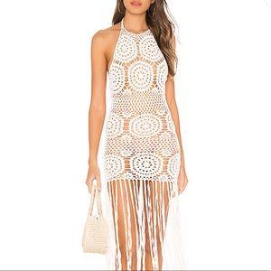 Majorelle Amy Crochet Dress in White NWOT